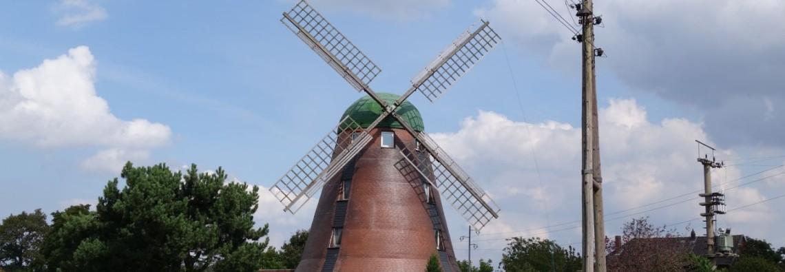 Eine echte Windmühle